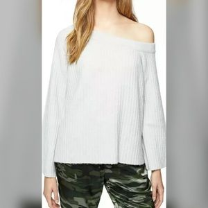 Sanctuary Ribbed Knit Off The Shoulder Sweater